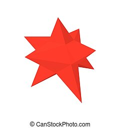 Moravian star star icon, cartoon style - Red moravian star...
