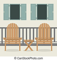 House Patio With Garden Chairs - House Patio With Garden...