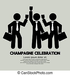 Businessmen Champagne Celebration.
