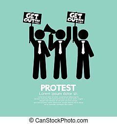 Group Of Protester Graphic Symbol - Group Of Protester...