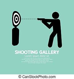 Gun Athlete At Shooting Gallery.