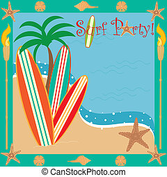Surf Party - Surf party invitaiton