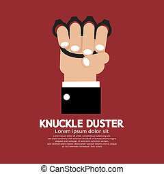 Knuckle Duster In Hand - Knuckle Duster In Hand Graphic...