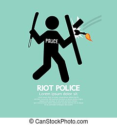 Riot Police Holding A Shield - Riot Police Holding A Shield...
