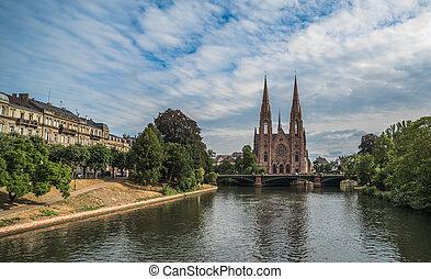 Saint Paul church in Strasbourg, Alsace, France