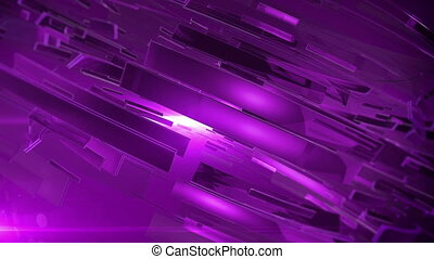 """Beautiful Purple 3d animation of abstract background."""