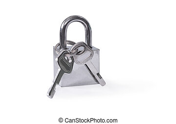 Hinged lock Isolated on white background