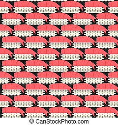 seamless pattern with sushi with shrimp