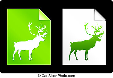 Deer Pages Collection Original Vector Illustration