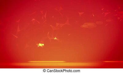 """Background with triangle particles"" - ""Background with..."
