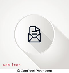 Simple icon letter in an envelope.