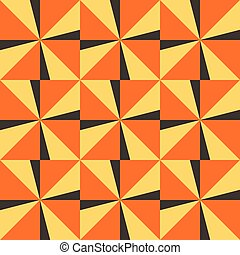 Seamless background with yellow orange triangles
