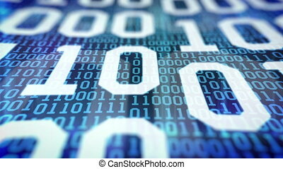 quot;Closeup of Binary code quot; - Closeup of Binary code...