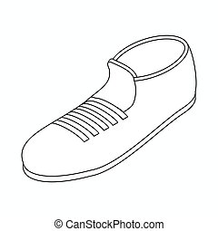 Sport shoe icon, isometric 3d style - Sport shoe icon in...