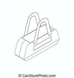 Sports bag icon, isometric 3d style - Sports bag icon in...