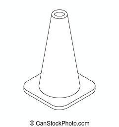 Training cone icon, isometric 3d style - Training cone icon...