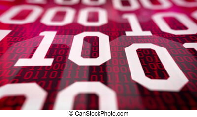 quot;Closeup of Binary codequot; - Closeup of Binary code...
