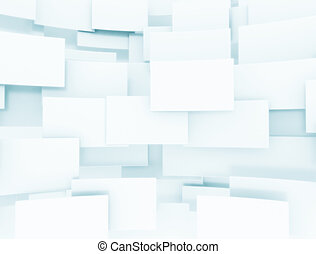 Background of blank 3d squares