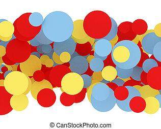 Color, círculos,  multi
