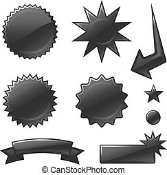 star burst designs - Original vector illustration: star...