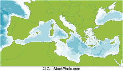 Mediterranean Sea map - The Mediterranean Sea is a sea...