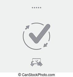 Check sync icon, check sync vector, check sync symbol, check...
