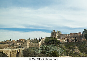 Toledo - Scenic view of the city of Toledo, Spain