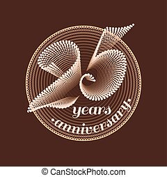 25 years anniversary vector icon 25th celebration design...
