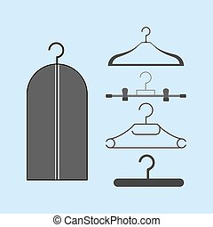 Clothes Hanger icon. Dress Hanger. Vector illustration
