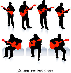 Live Music Band Collection Original Vector Illustration...