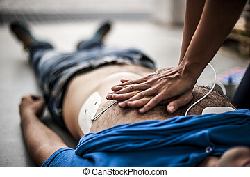 cardiac massage - cardiac resuscitation after a fatal...