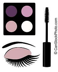 eye mascara - eye make up eye shadows