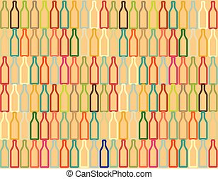 Bottle Pattern for Design - Bottle Seamless Pattern Outline...