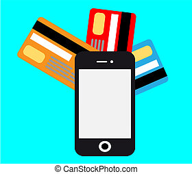 smartphone mobile payment vector - Mobile payments and...