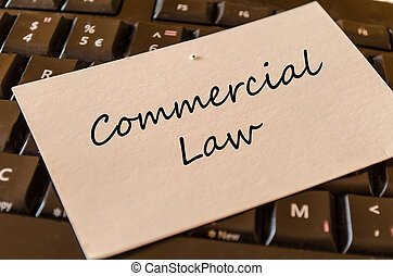 Commercial law - note on keyboard in the office