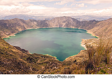 View Of The Quilotoa Lake, Ecuador
