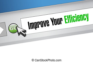 Improve Your Efficiency website sign concept illustration...