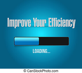 Improve Your Efficiency loading bar sign concept...