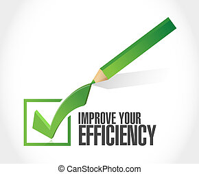 Improve Your Efficiency check mark sign concept illustration...