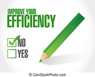 no Improve to Your Efficiency sign concept illustration...