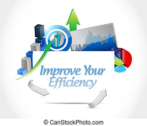 Improve Your Efficiency business graph sign concept...