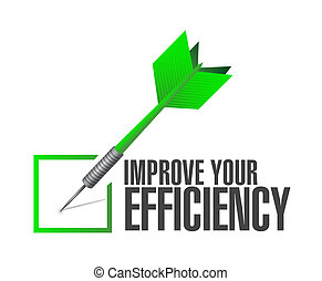Improve Your Efficiency check dart sign concept illustration...