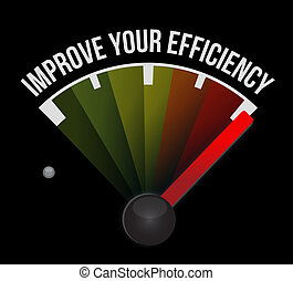 Improve Your Efficiency meter sign concept illustration...