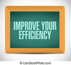 Improve Your Efficiency chalkboard sign concept illustration...