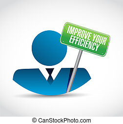 Improve Your Efficiency people sign concept illustration...
