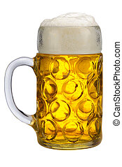 big glass of lager beer from Bavari