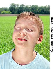 Kid in the Field - Happy Kid in the Summer Field
