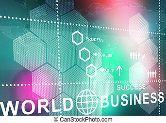 abs - Digital background image presenting modern business...