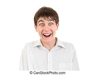 Surprised Teenager Portrait - Surprised Teenager Isolated on...