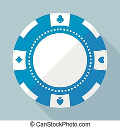 Casino gambling chip vector flat icon - Casino chip vector...